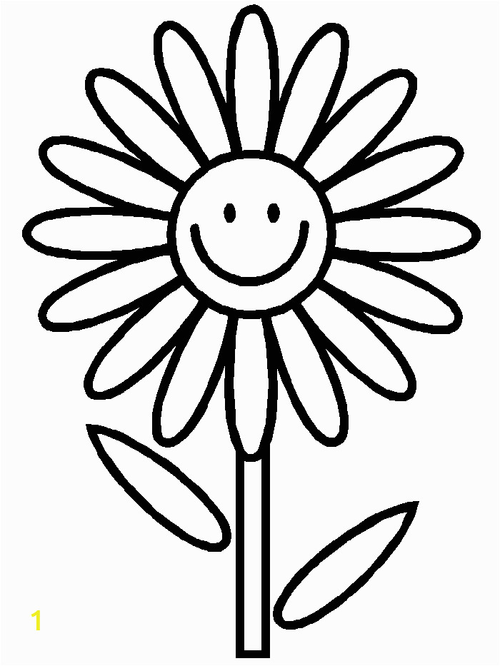 flower simple 2 coloring page