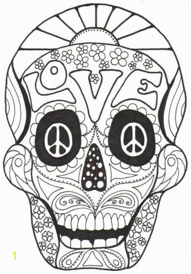 sugar skull coloring pages adults printable
