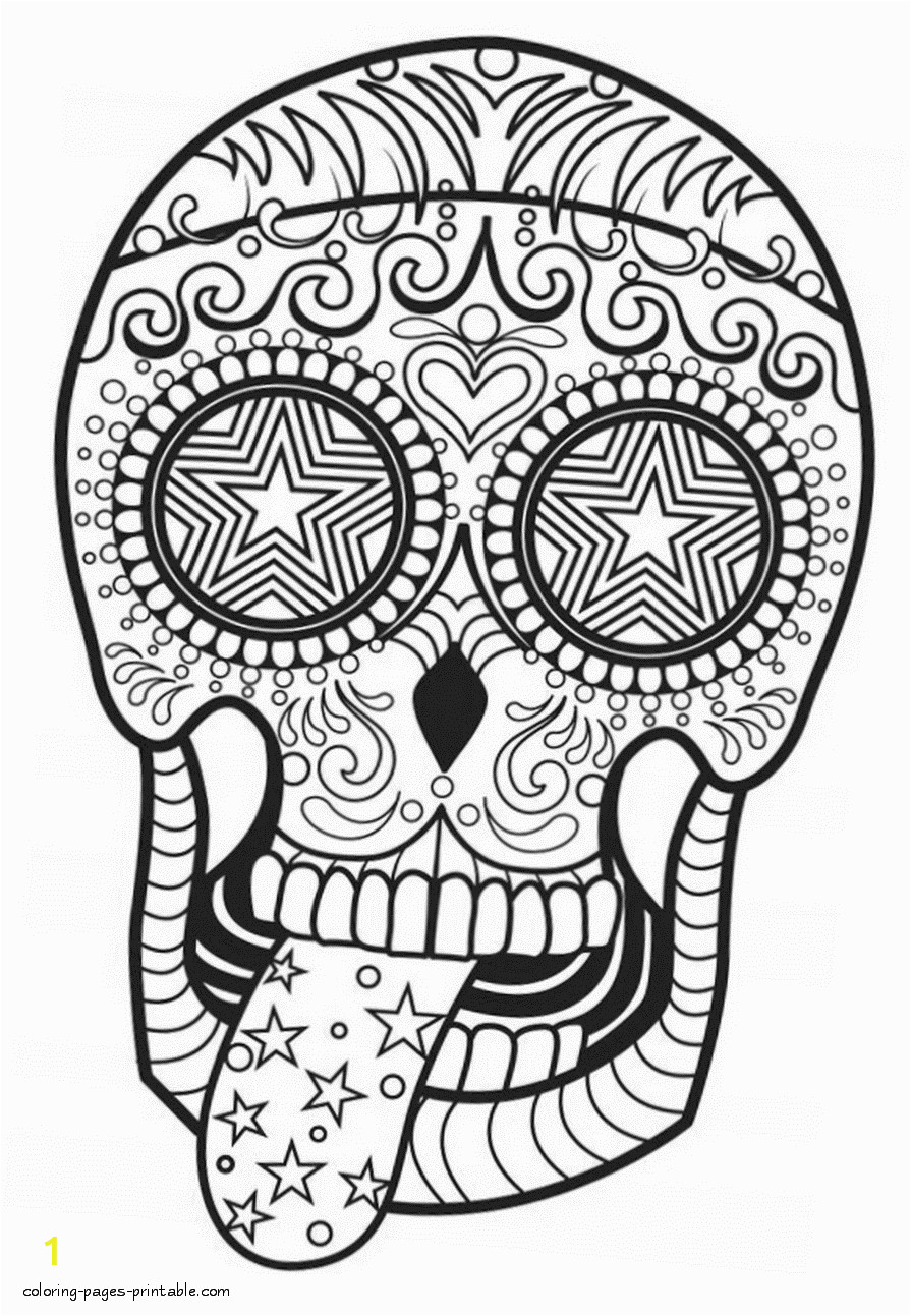skull coloring pages for adults id=14