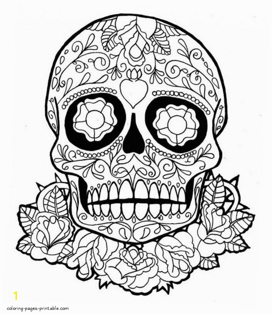 skull coloring pages for adults id=2