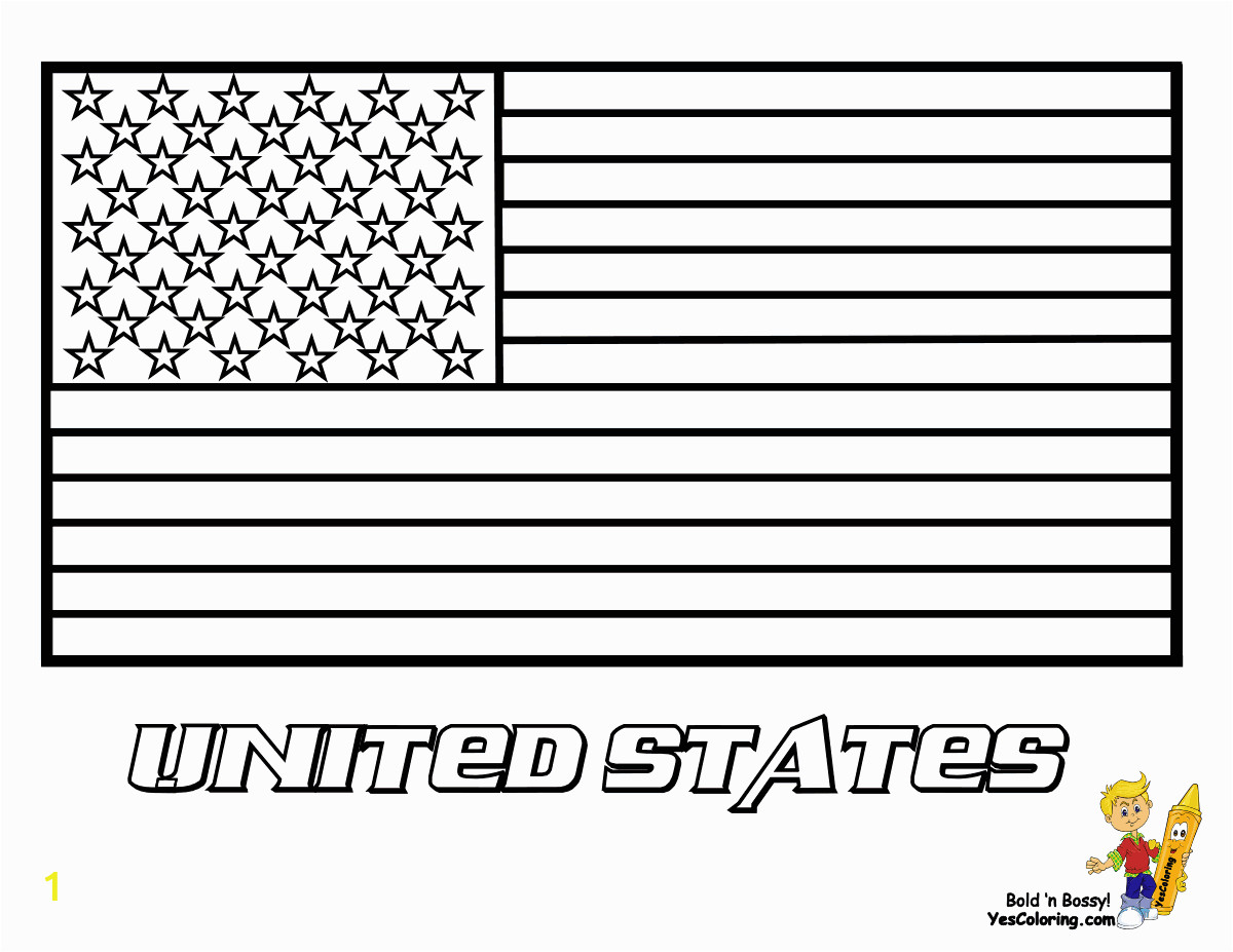american flag coloring