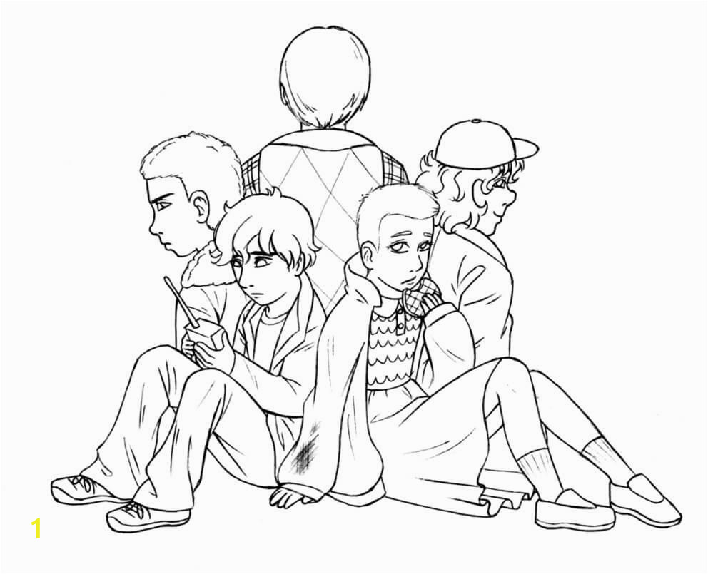 stranger things coloring pages