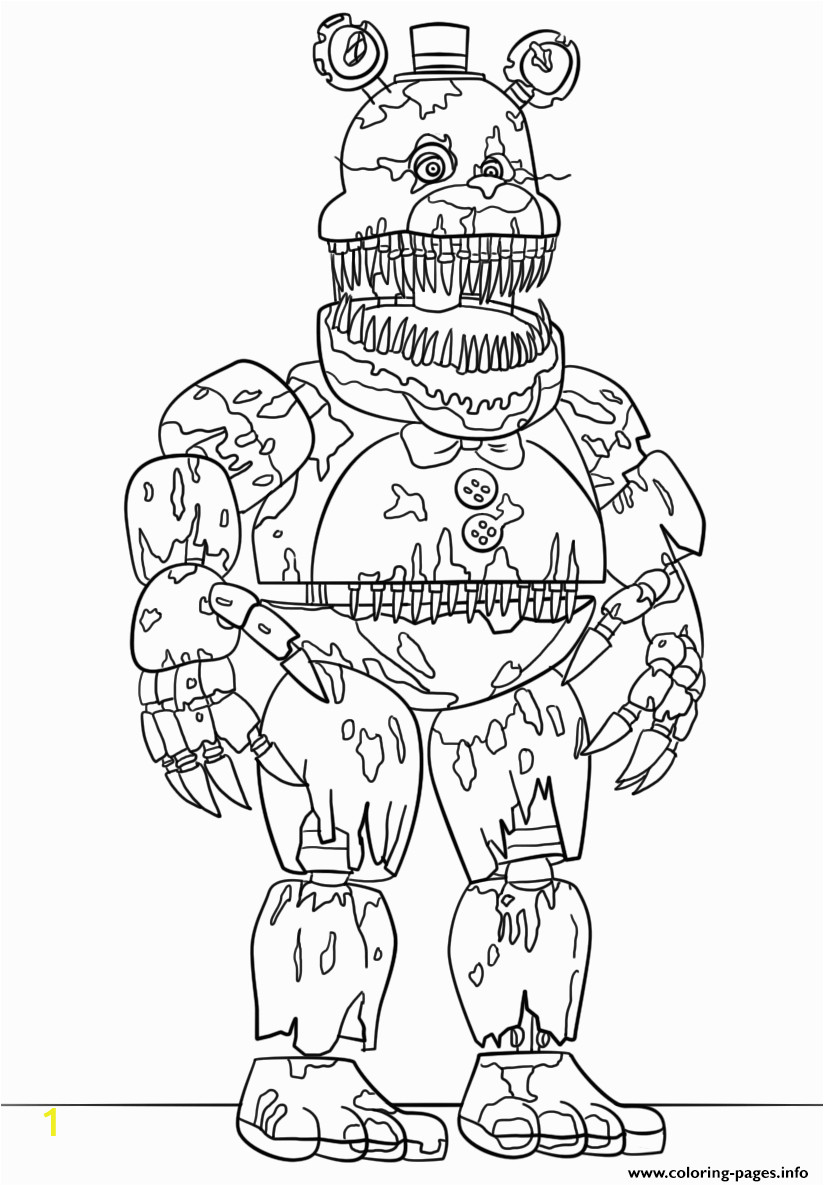 nightmare fredbear scary fnaf printable coloring pages book