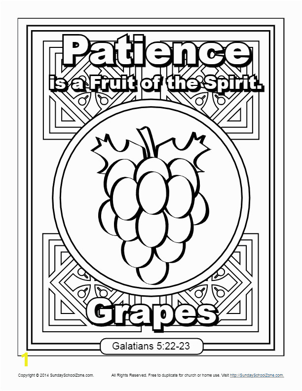 fruit of the spirit patience coloring page