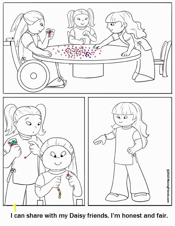 girl scout law printable coloring pages