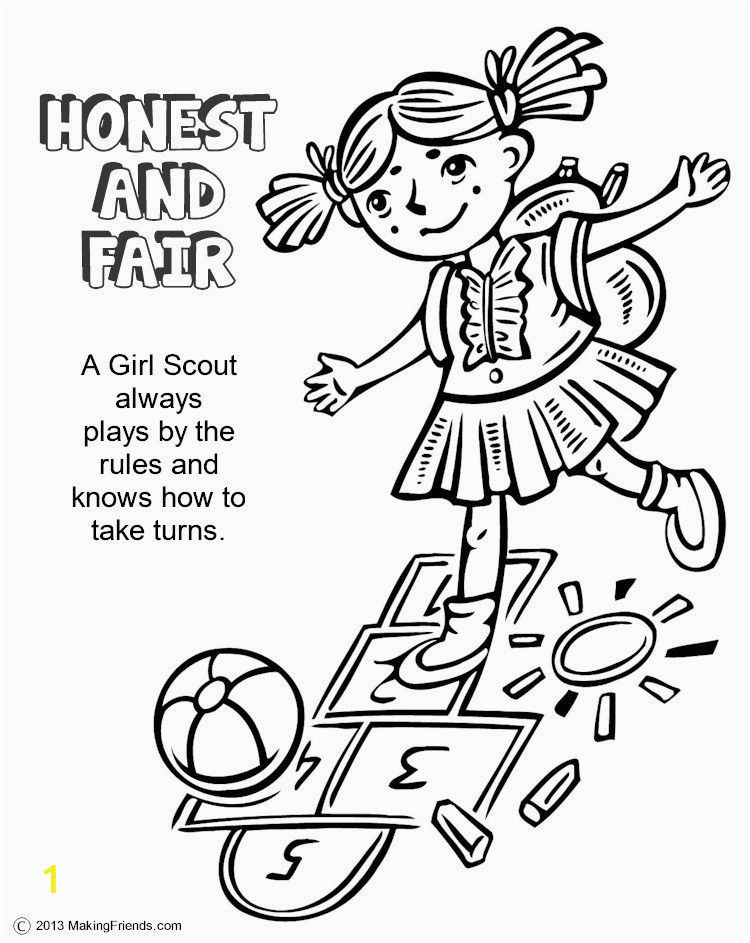 girl scout law coloring book