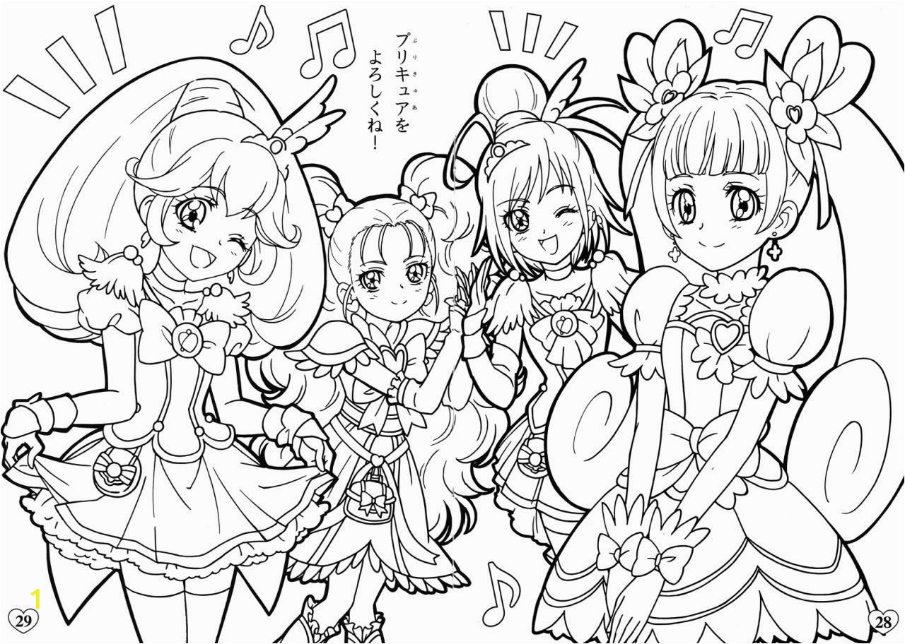 glitter force doki doki pages sketch templates