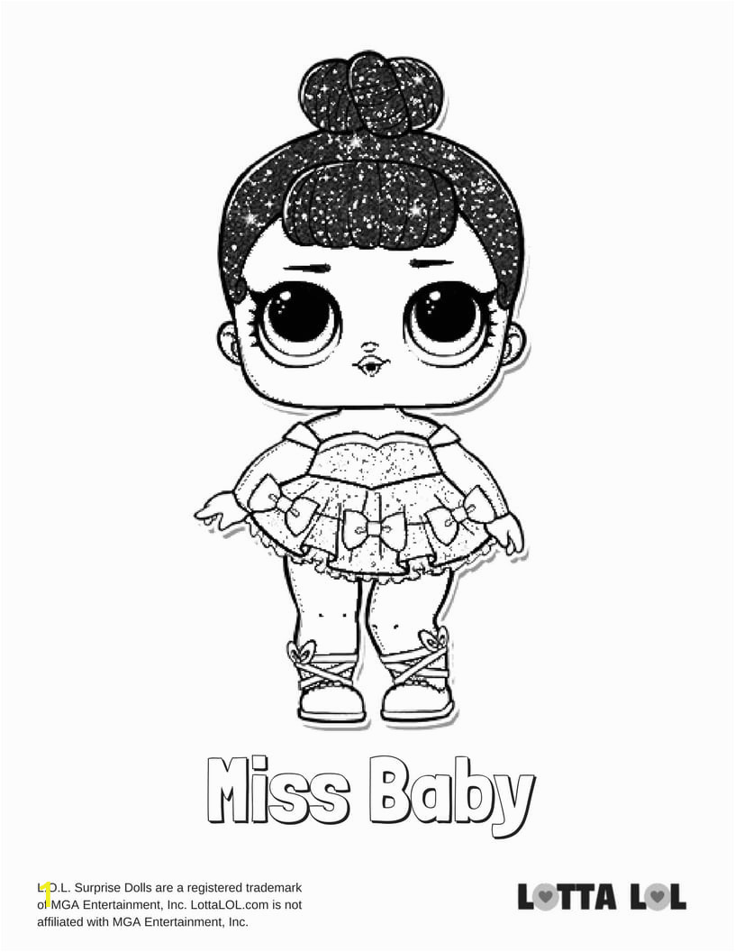 miss baby glitter coloring page