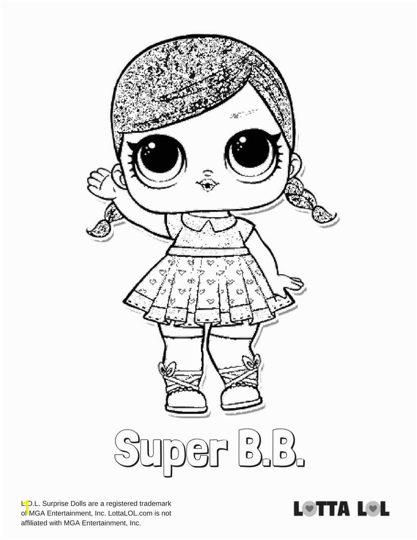 super bb glitter coloring page