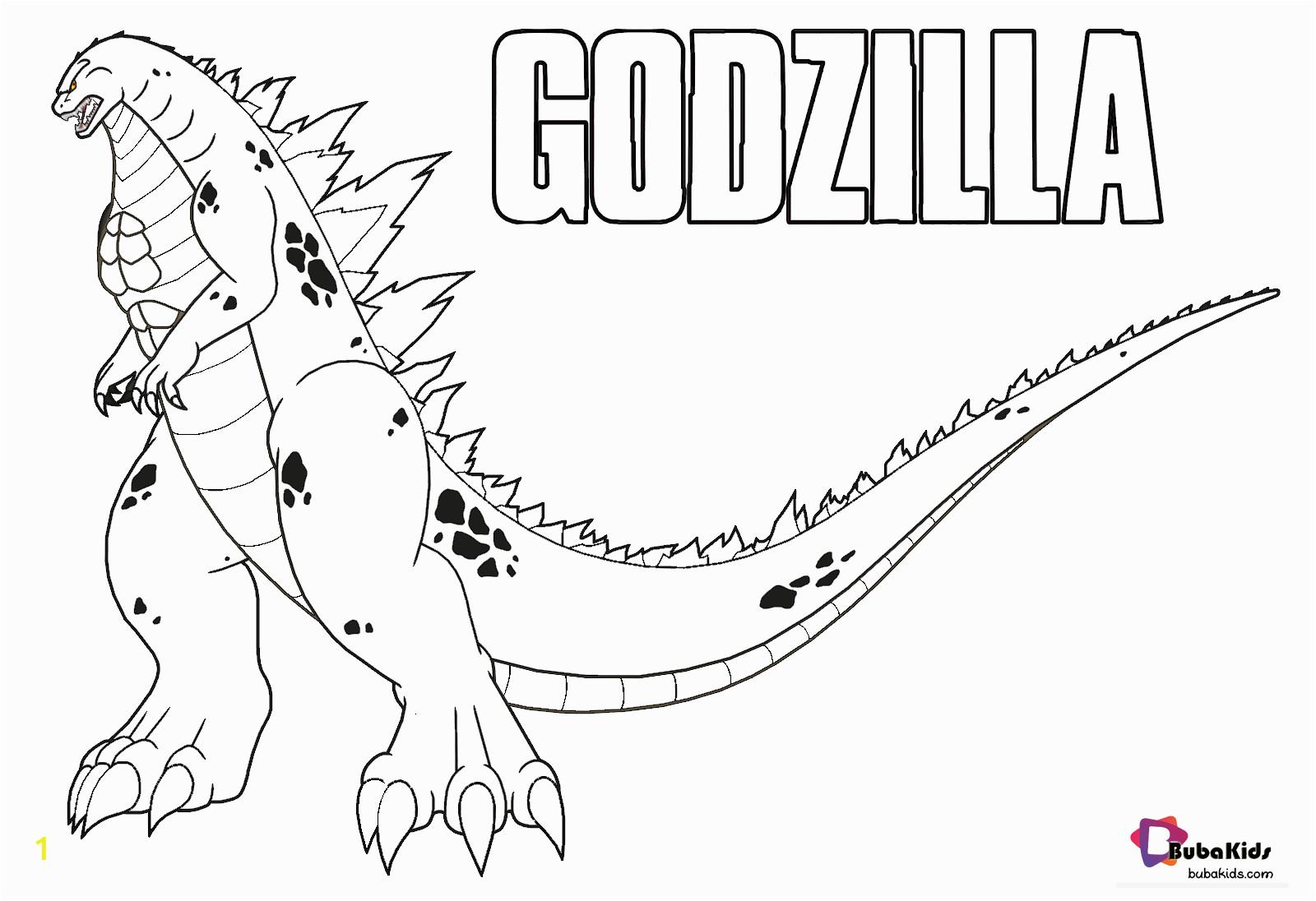 godzilla 2019 coloring pages