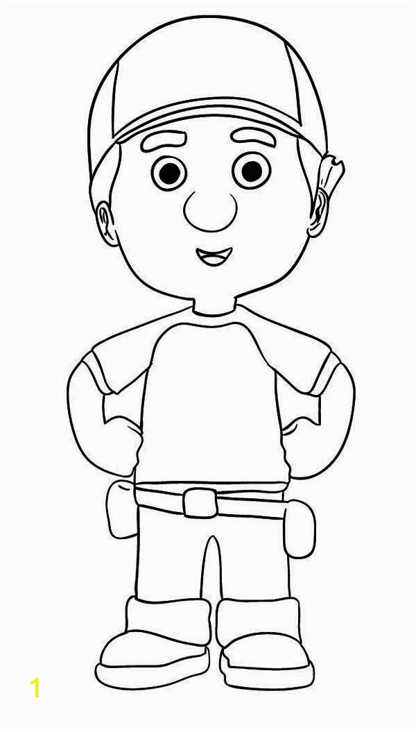 manny garcia handy manny coloring page