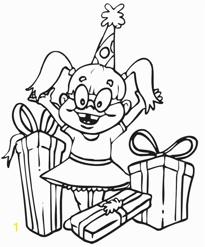 Happy Birthday Coloring Pages for Girls Birthday Coloring Page