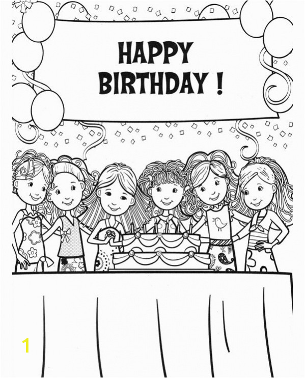 Happy Birthday Coloring Pages for Girls Free 20 Coloring Pages In Ai for Girls In Psd