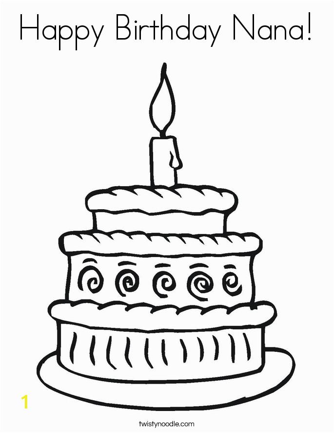 happy birthday nana 15 coloring page