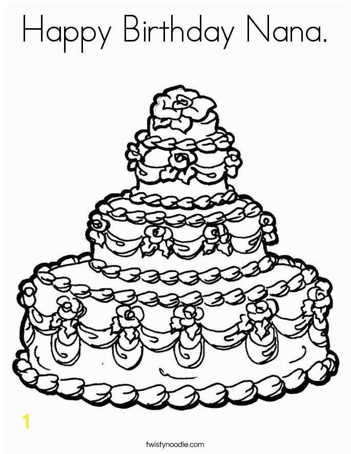 happy birthday nana 33 coloring page