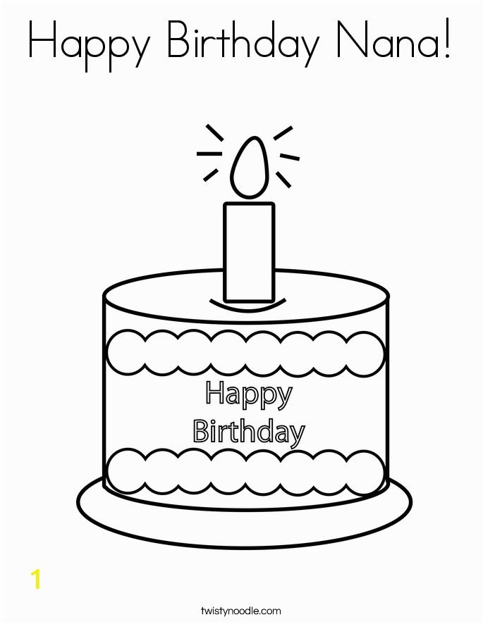 happy birthday nana 6 coloring page