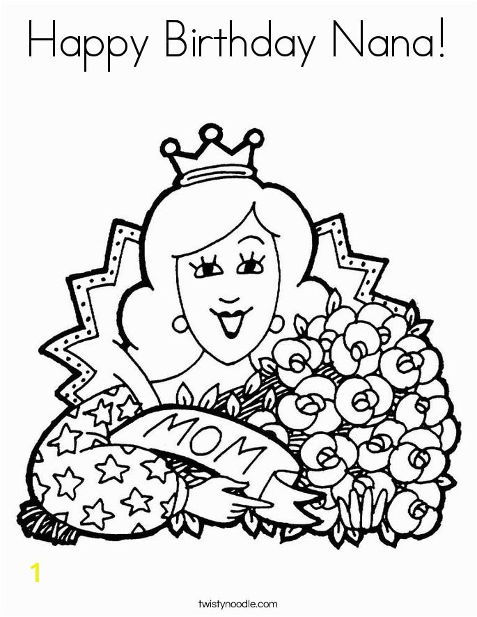 happy birthday nana 26 coloring page