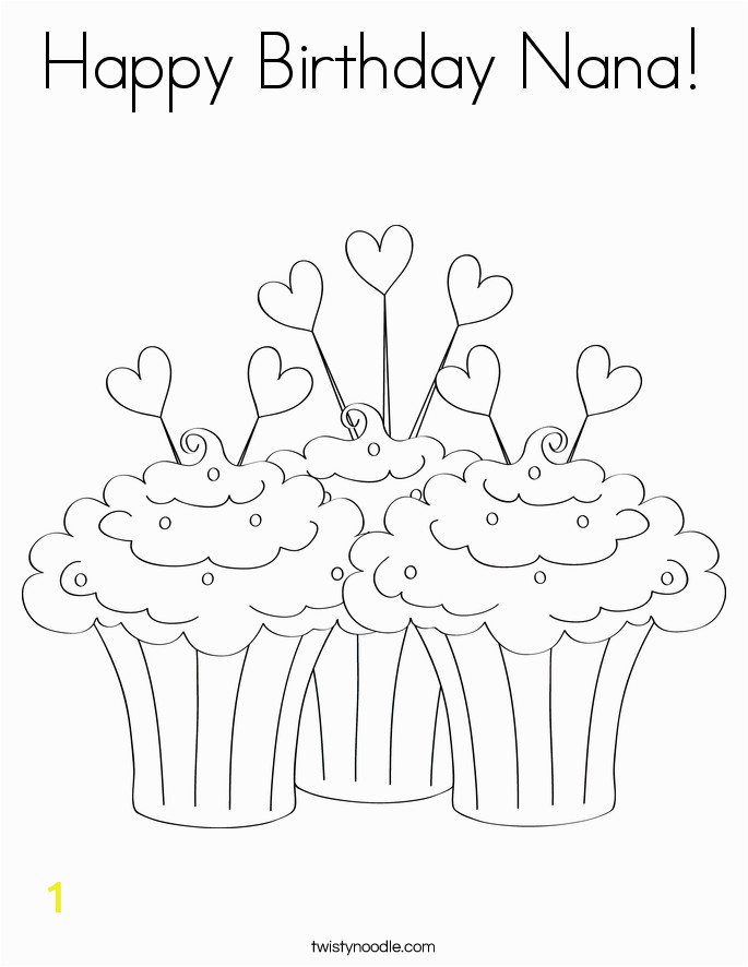 happy birthday nana 29 coloring page