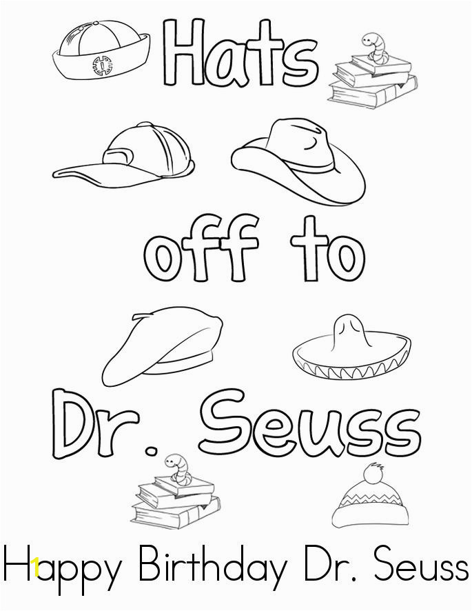 happy birthday dr seuss pages sketch templates