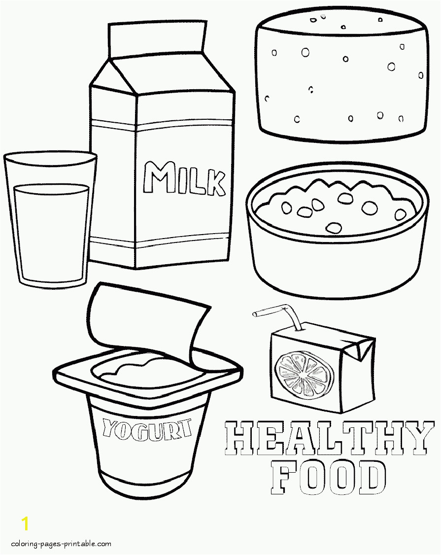 healthy food coloring pages id=45
