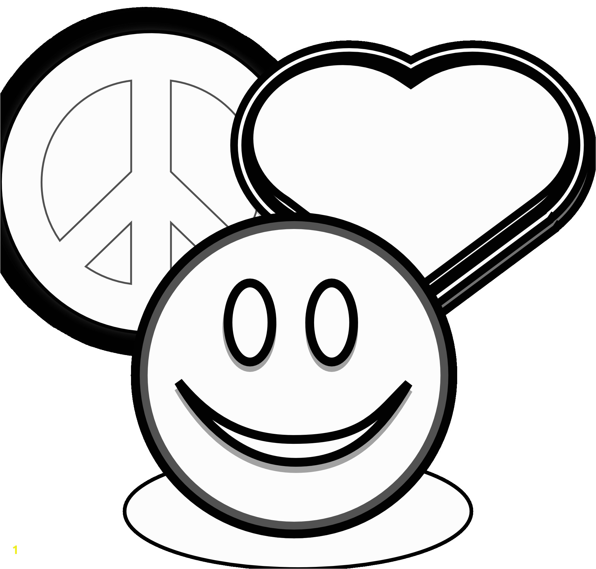 coloring pages of peace signs and hearts clip art peace love and 1tz4zg clipart 1045