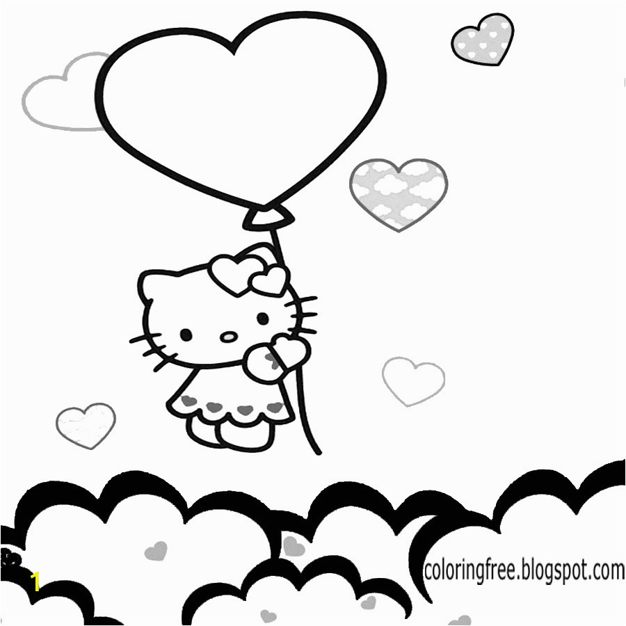 hello kitty coloring sheets free cute