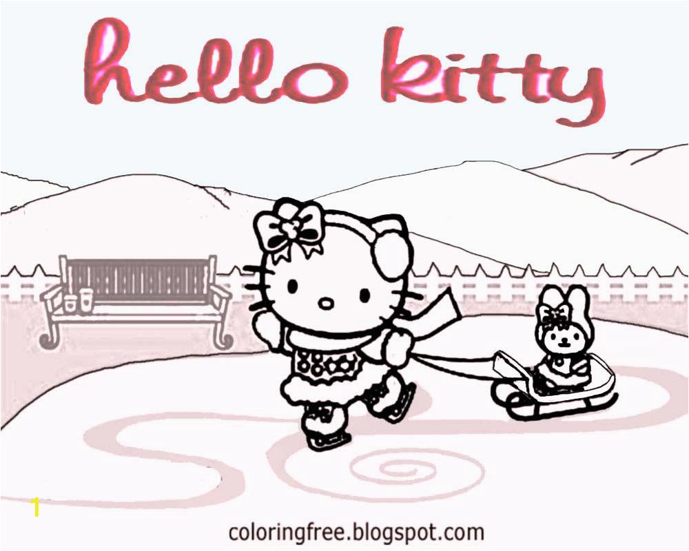 cute hello kitty christmas printable