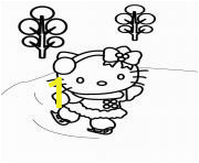 hello kitty christmas ice skating printable coloring pages book 9972