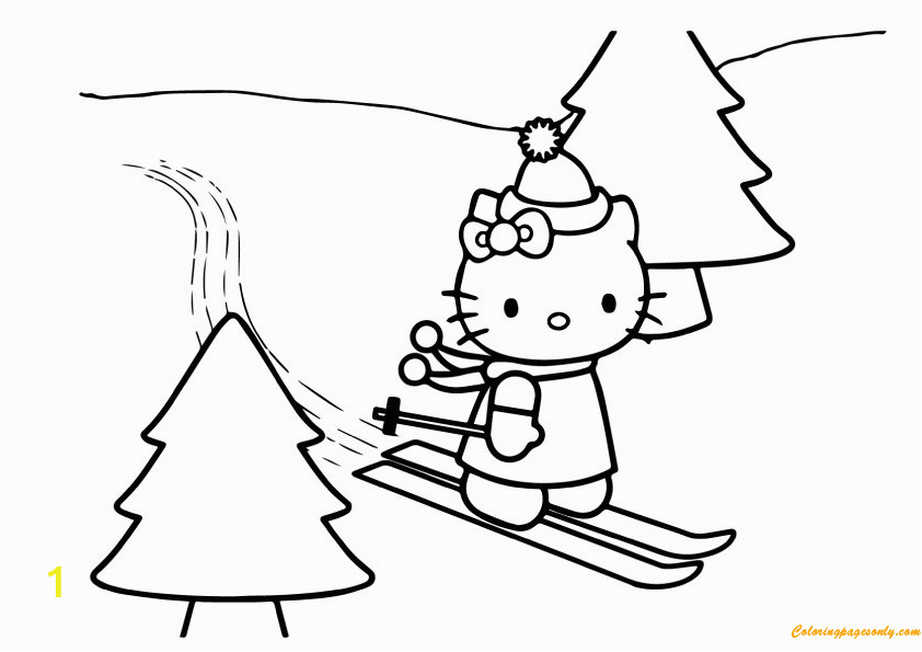 hello kitty skating on christmas day