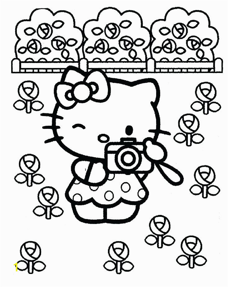 hello kitty st patricks day coloring