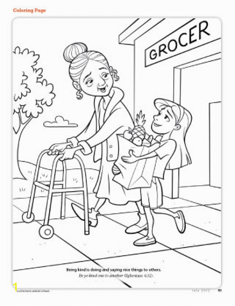 children helping others coloring pages