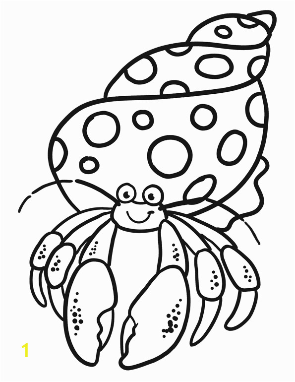 hermit crab coloring pages 10 image