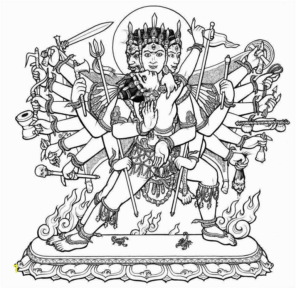 durga coloring pages