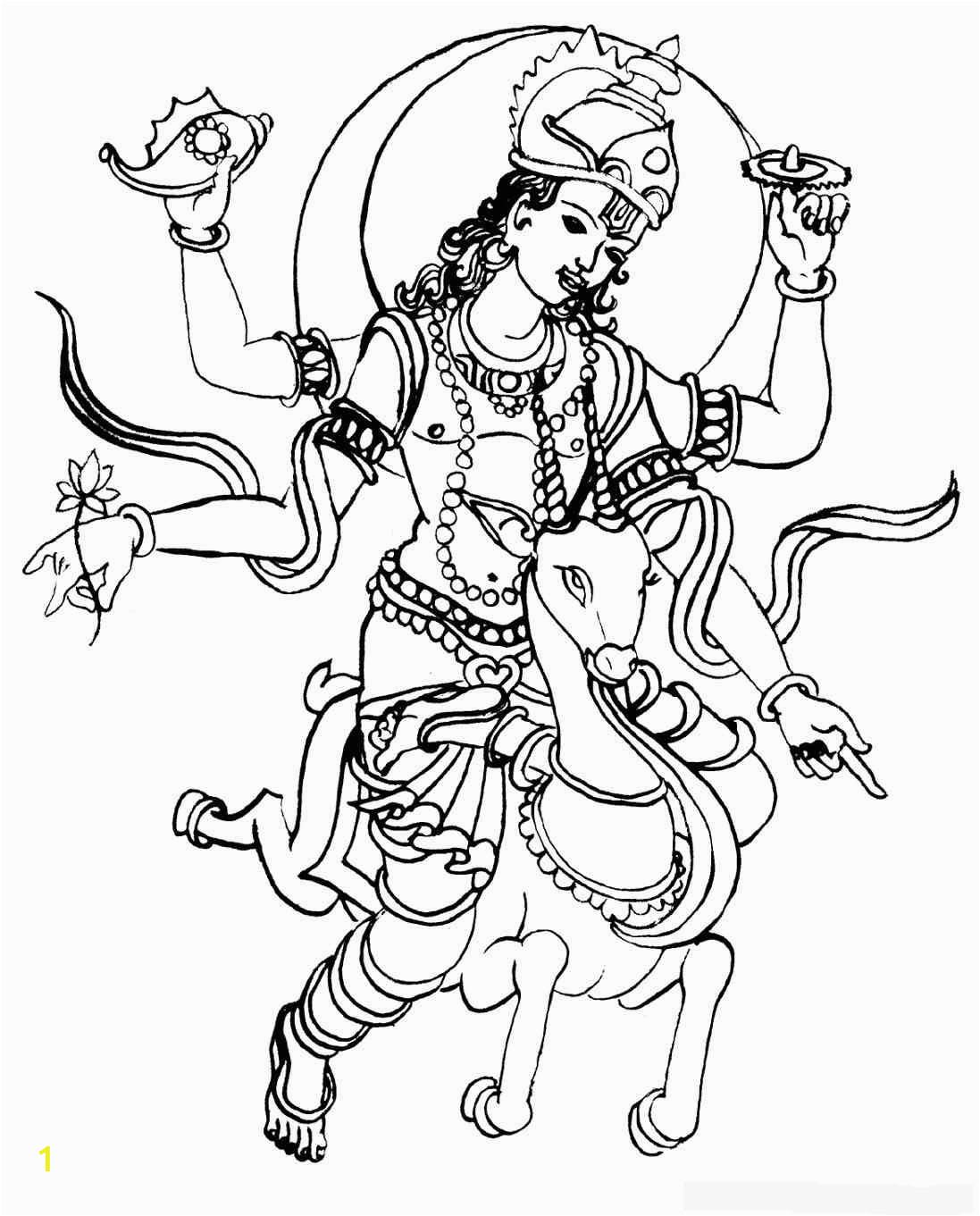 hindu gods colouring