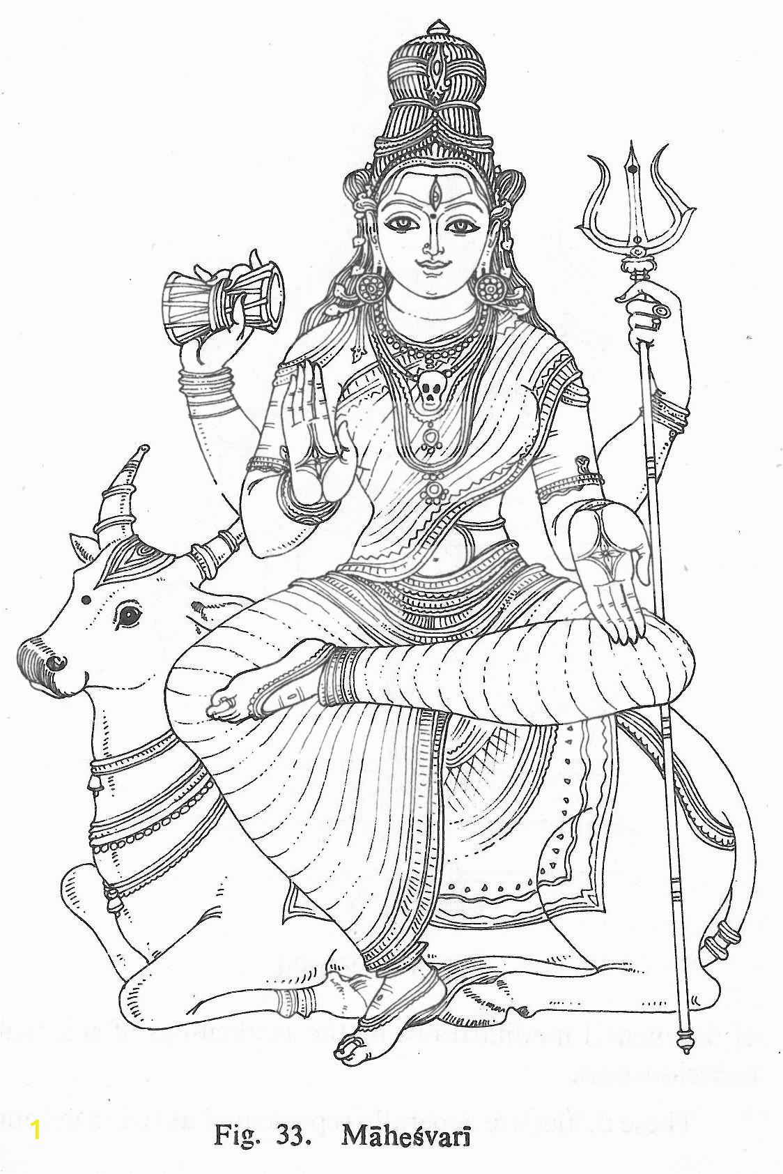 hindu gods pencil sketch templates