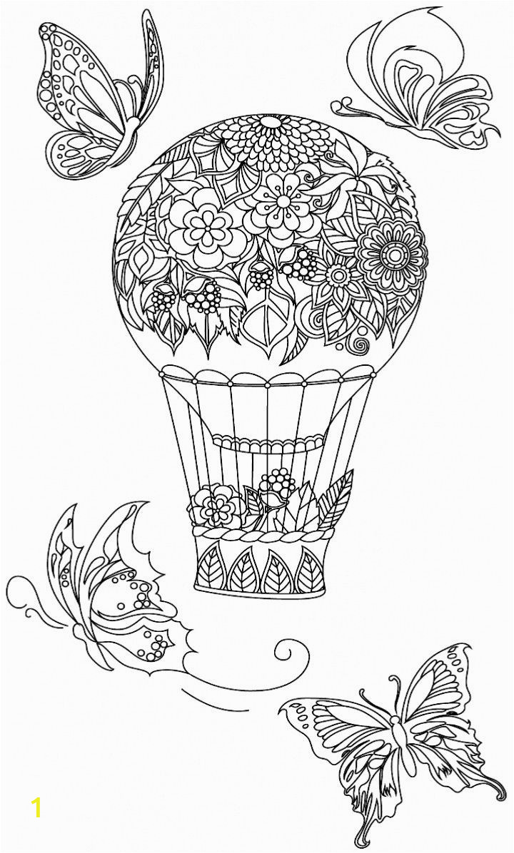 hot air balloon adult sketch templates