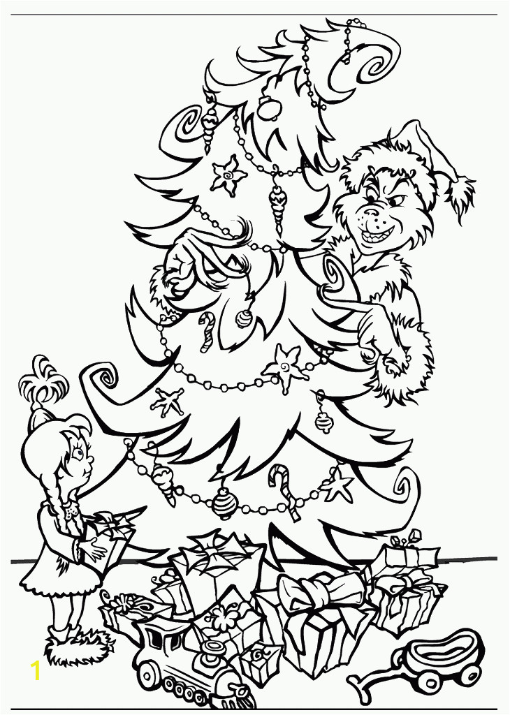 coloring pages grinch stole christmas