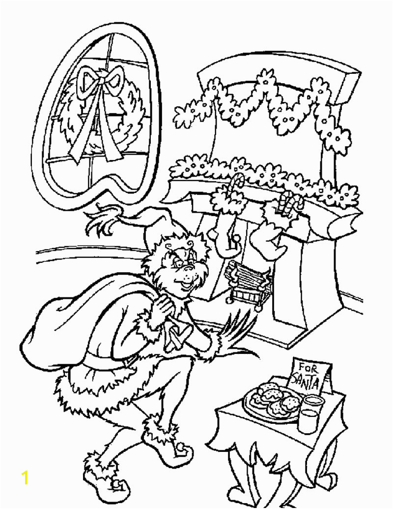 How the Grinch Stole Christmas Coloring Book Pages Xmas Coloring Pages