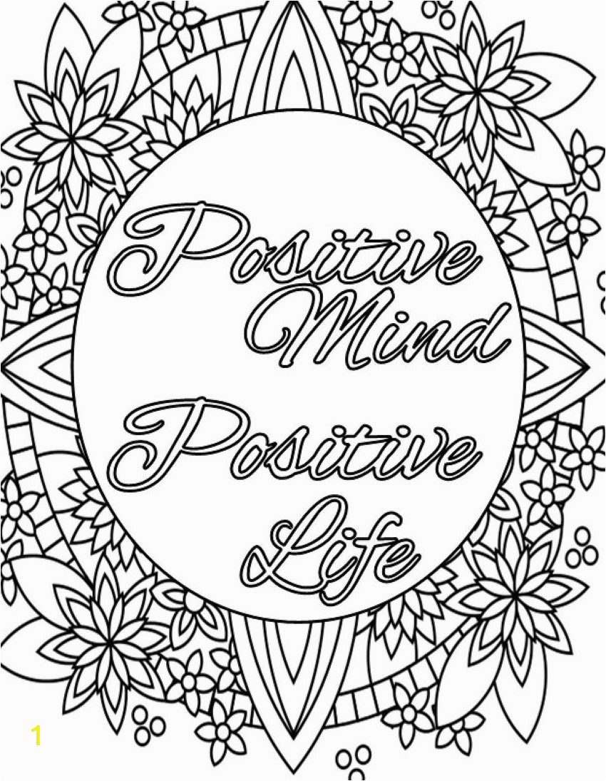 Inspirational Quote Coloring Pages for Adults Inspirational Quote Coloring Page to Print and Color Adult