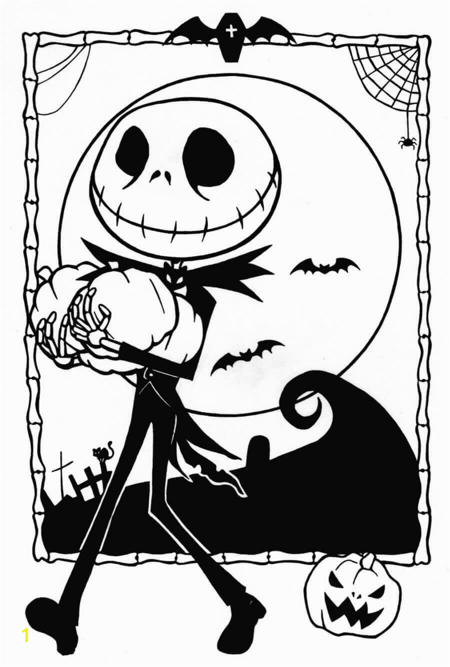 Jack Nightmare before Christmas Coloring Pages 20 Free the Nightmare before Christmas Coloring Pages to Print