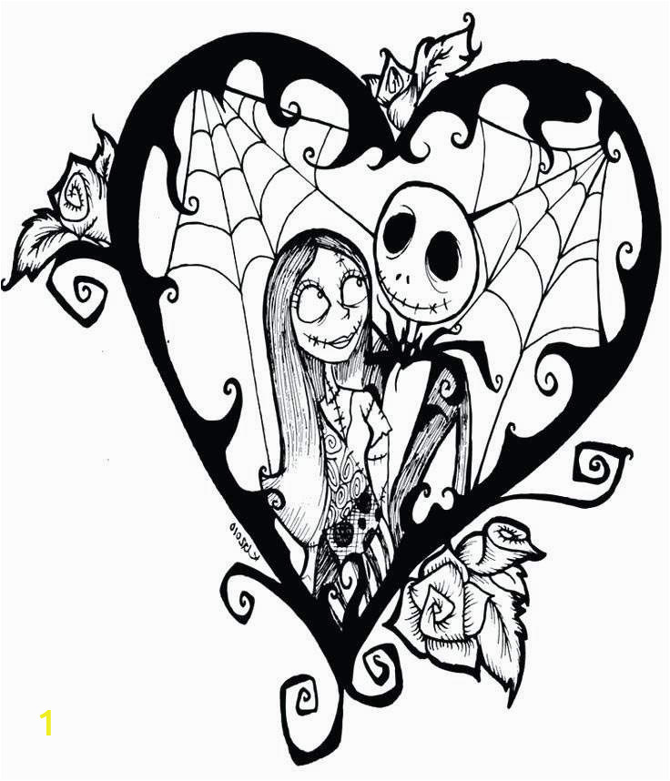 nightmare before christmas jack skellington coloring pages