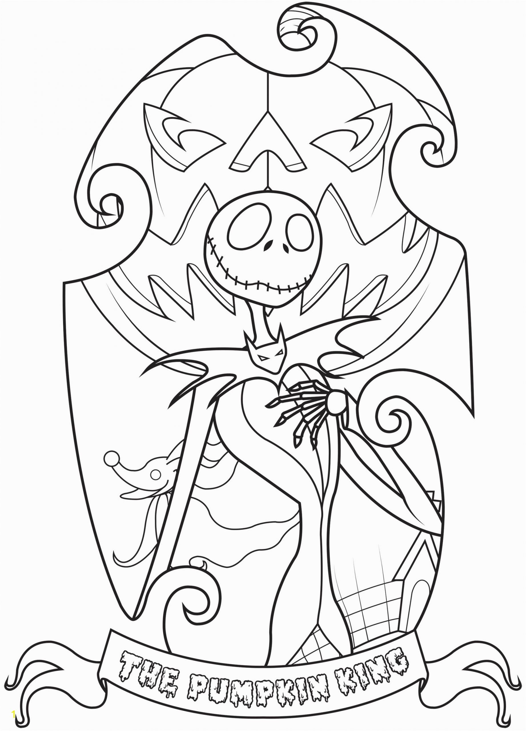image=the nightmare before christmas coloring jack skellington king of halloween town simple 1