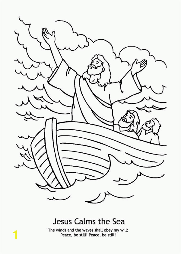 coloring page for jesus calming the storm