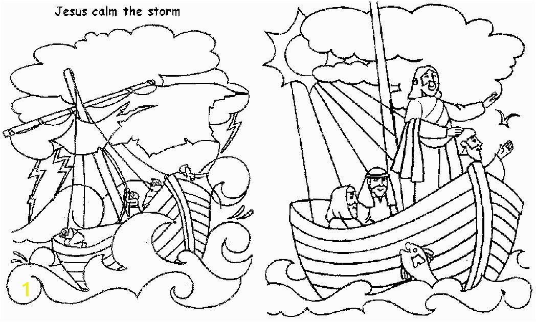 jesus calms storm free coloring page