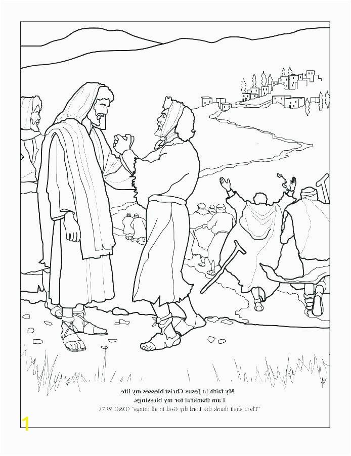Jesus Heals 10 Lepers Coloring Page Jesus Heals Ten Lepers Coloring Page Jesus Heals Ten
