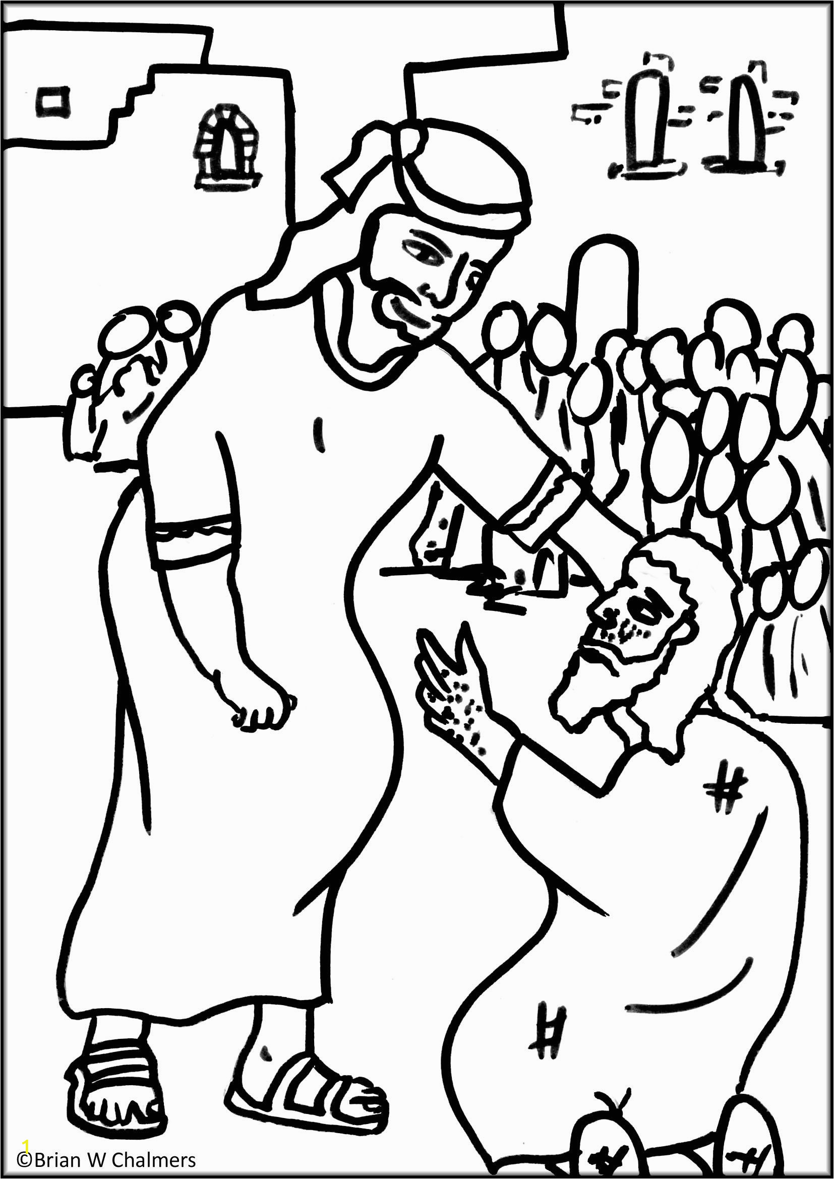 jesus heals the 10 lepers coloring page