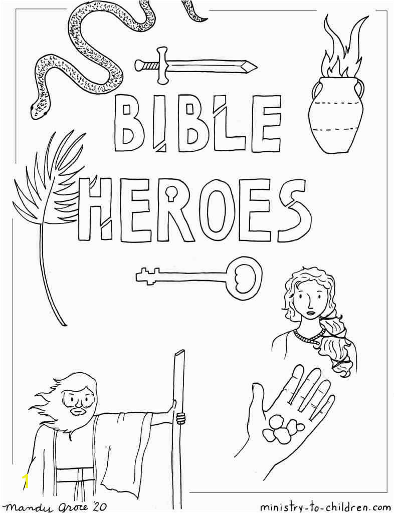 bible heroes coloring cover page