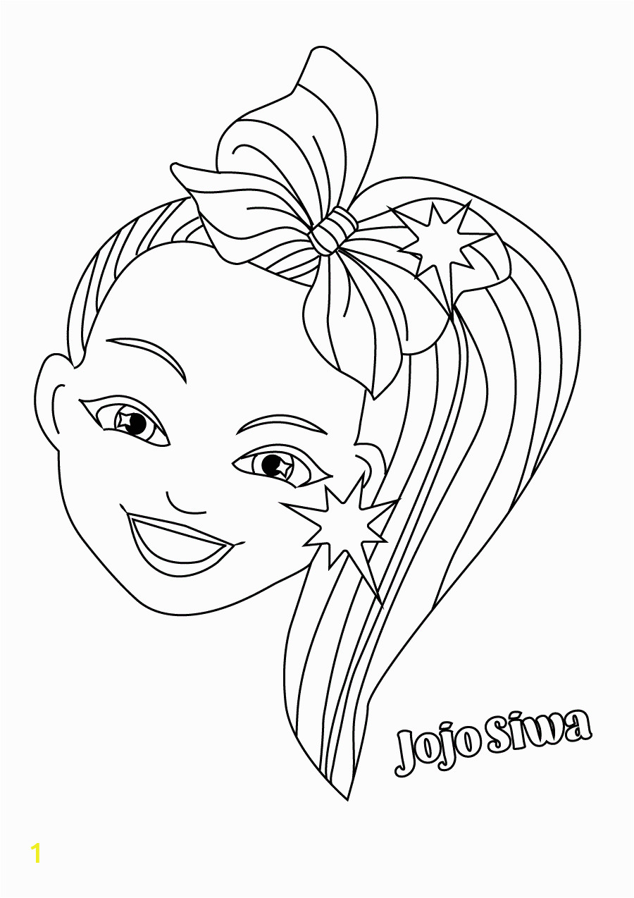 jojo siwa free coloring pages