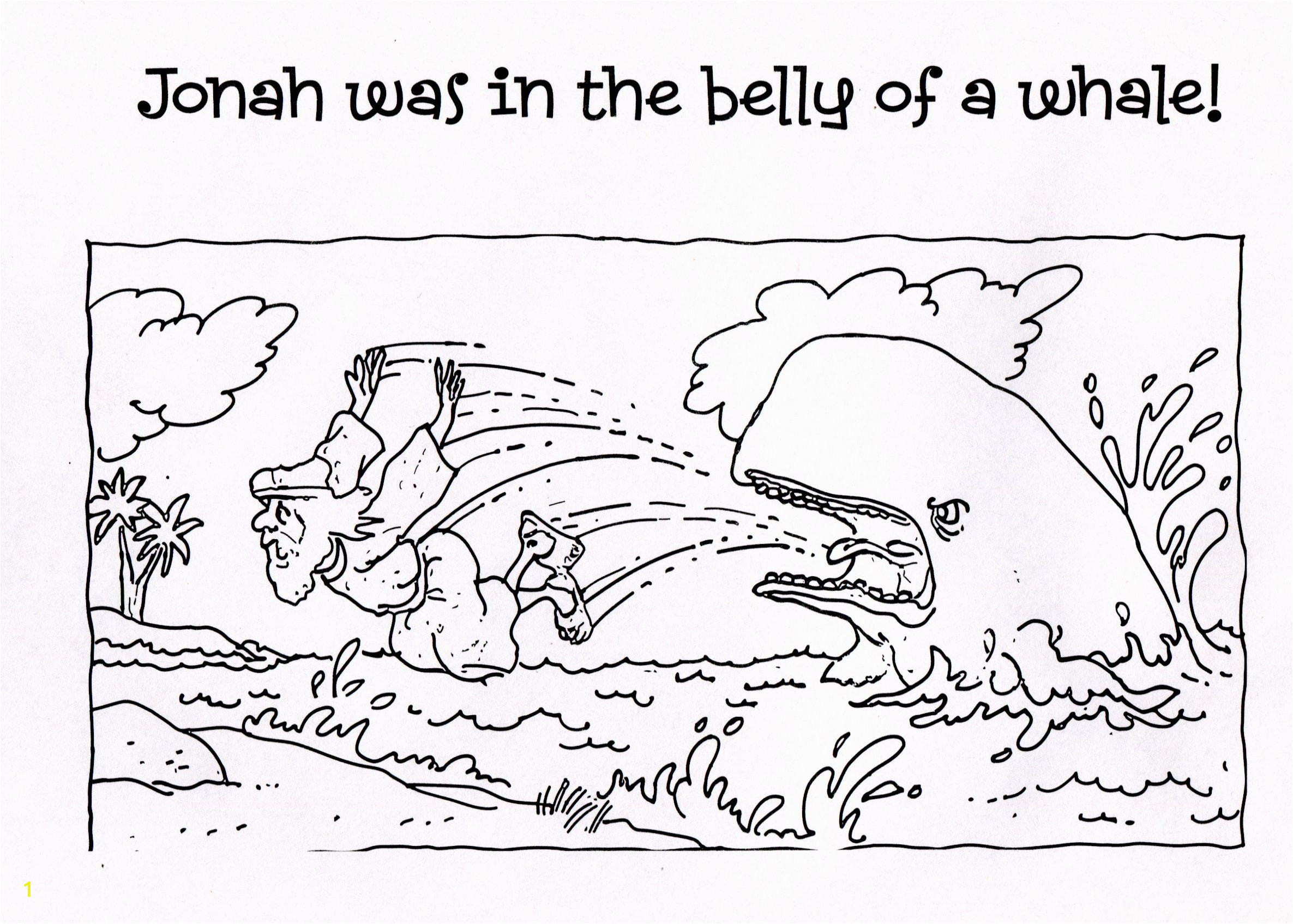 Jonah and the Whale Coloring Pages for Kids Free Printable Jonah and the Whale Coloring Pages for Kids