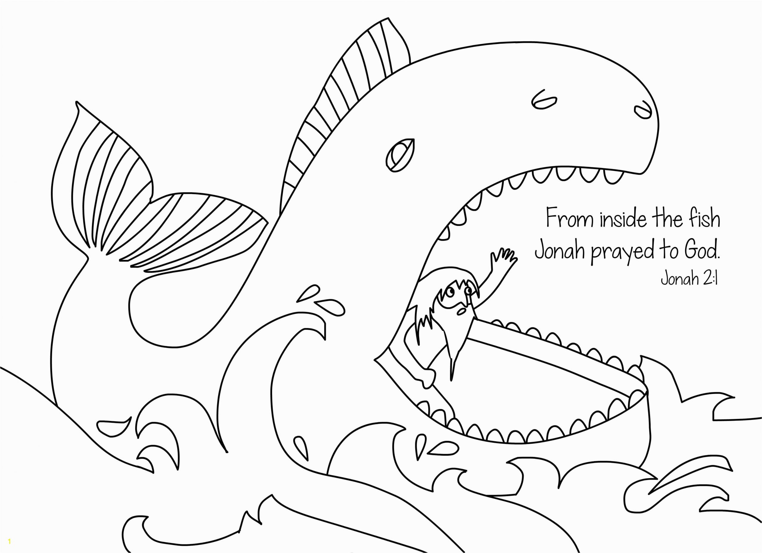 jonah and the whale coloring page